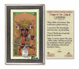 Our Lady of Czestochowa Pendant and Holy Prayer Card Gift Set by Bliss Manufacturing