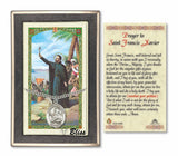 St Francis Xavier Pendant and Holy Prayer Card Gift Set by Bliss Manufacturing