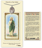 Spanish St Jude Thaddeus/San Judas Pendant Holy Prayer Card Gift Set by Bliss Manufacturing