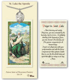 St Luke the Apostle Pendant Holy Prayer Card Gift Set by Bliss Manufacturing