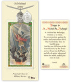 Bliss St Michael Army Pendant Necklace with Holy Prayer Card Gift Set