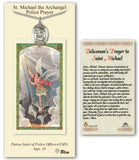 Bliss St Michael Pendant and Policeman Holy Prayer Card Gift Set