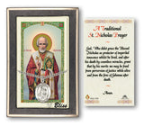 St Nicholas Pendant w/Holy Prayer Card Gift Set by Bliss Manufacturing