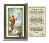 St Peter the Apostle Pendant & Novena Holy Prayer Card Gift Set by Bliss Manufacturing