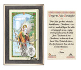 St Christopher Swimming Pendant and Holy Prayer Card Gift Set by Bliss Manufacturing