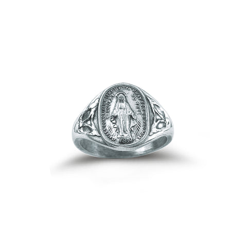 HMH Religious Catholic Sterling Silver Miraculous Medal Ring