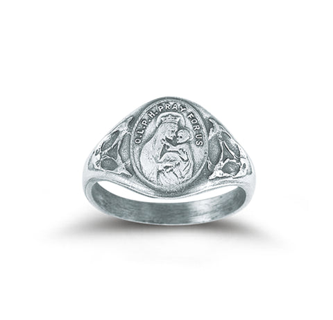 HMH Religious Our Lady of Perpetual Help Sterling Silver Ring