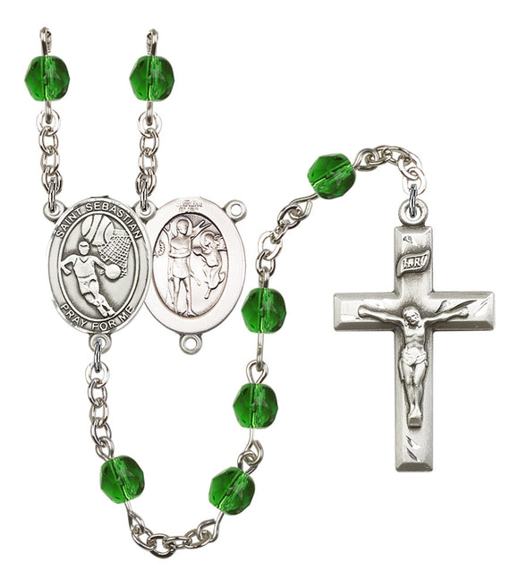 Bliss St Sebastian Basketball Athlete Birthstone Sports Saint Rosary