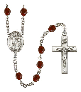 Bliss St Sebastian Crystal Athlete Birthstone Sports Saint Rosary