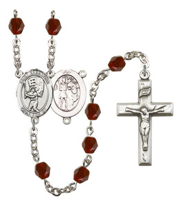 Bliss Manufacturing St Sebastian Baseball Sports Silver-Plated Birthstone Rosary