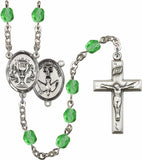Bliss 2-Sided Chalice and Holy Spirit Confirmation Center Silver-Plated Crystal Birthstone Rosary