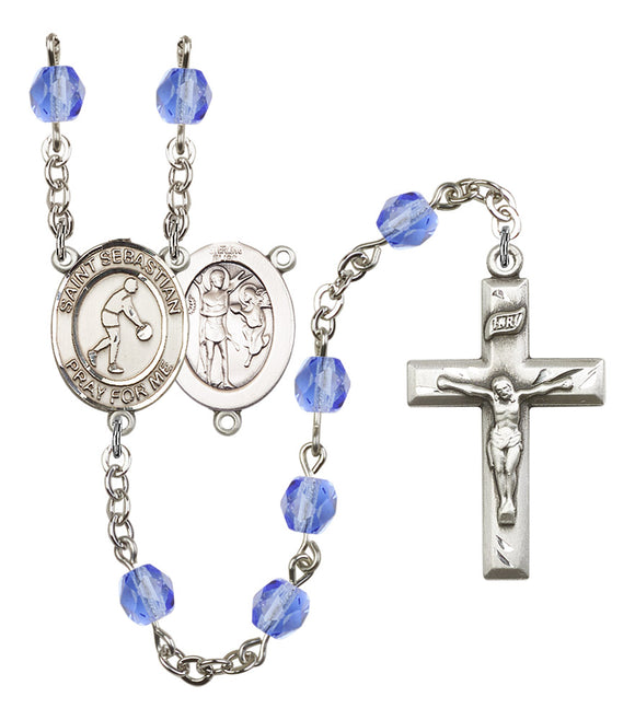 Bliss Mfg St Sebastian Basketball Athlete Birthstone Sports Saint Rosary