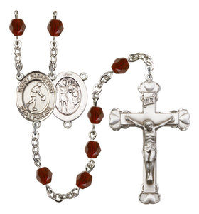 Bliss Mfg Heart St Sebastian Basketball Athlete Birthstone Sports Saint Rosary