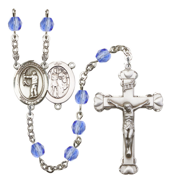 Bliss St Sebastian Archery Heart Birthstone Athlete Birthstone Sports Saint Rosary