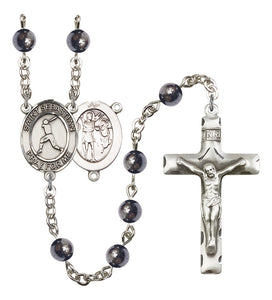 Bliss St Sebastian Gemstone Baseball Gemstone Sports Saint Rosary