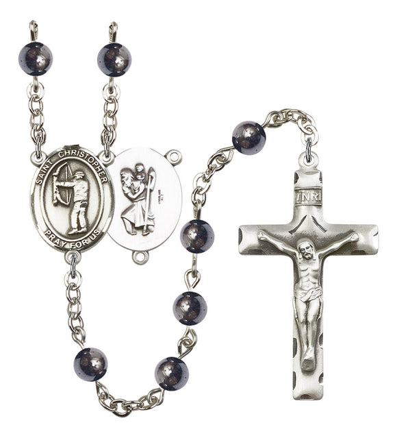 Bliss St Christopher Gemstone Archery Gemstone Sports Saint Rosary