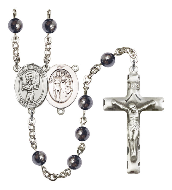 Bliss Mfg St Sebastian Gemstone Baseball Gemstone Sports Saint Rosary