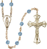 Bliss 6mm Swarovski Crystal Praying Madonna Catholic Rosary