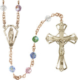 Bliss Manufacturing 6mm Swarovski Crystal Praying Madonna Catholic Rosary