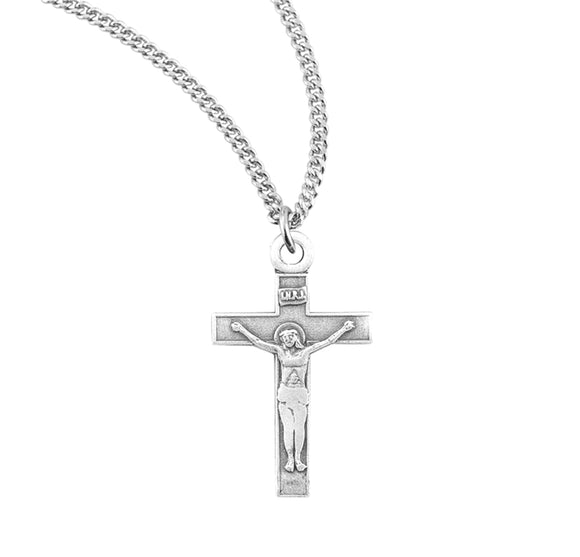 HMH Religious Small INRI Basic Sterling Silver Crucifix Pendant Necklace
