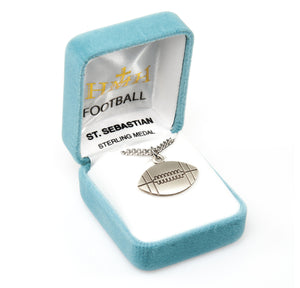 St Sebastian Football Sports Necklace by HMH Religious
