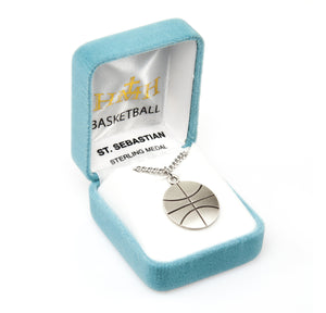 St Sebastian Basketball Sports Necklace by HMH Religious