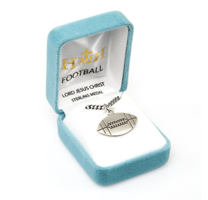 HMH Religious Lord Jesus Christ Football Sports Necklace