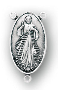 HMH Religious Jesus Divine Mercy Sterling Silver Center Rosary Parts