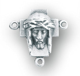 HMH Religious Head of Christ Sterling Silver Center Rosary Parts