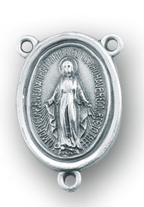 HMH Religious Miraculous Medal 1830 Sterling Silver Center Rosary Parts