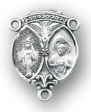 HMH Religious Scapular Miraculous w/Sacred Heart of Jesus Sterling Silver Center Rosary Parts