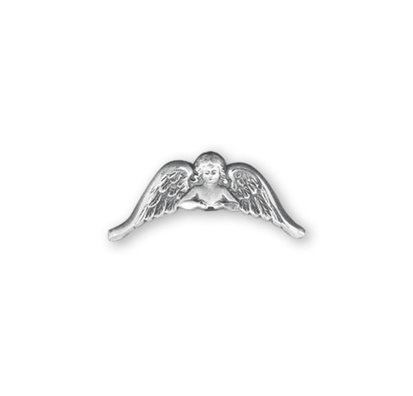 HMH Religious Guardian Angel Wings Sterling Silver Lapel Pin w/Deluxe Screw