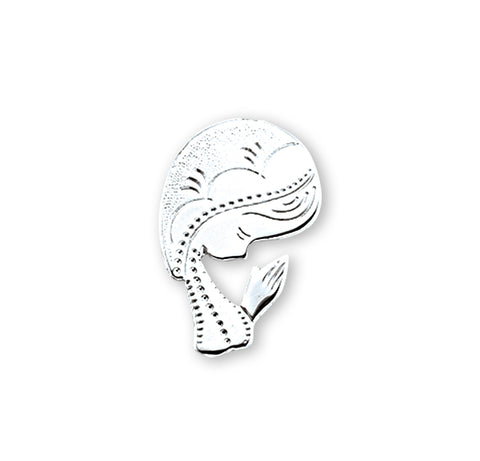 HMH Religious Contemporary Madonna Sterling Silver Lapel Pin w/Deluxe Screw