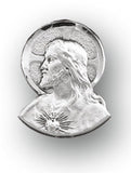 HMH Religious Sterling Silver Sacred Heart of Jesus Lapel Pin w/Deluxe Screw