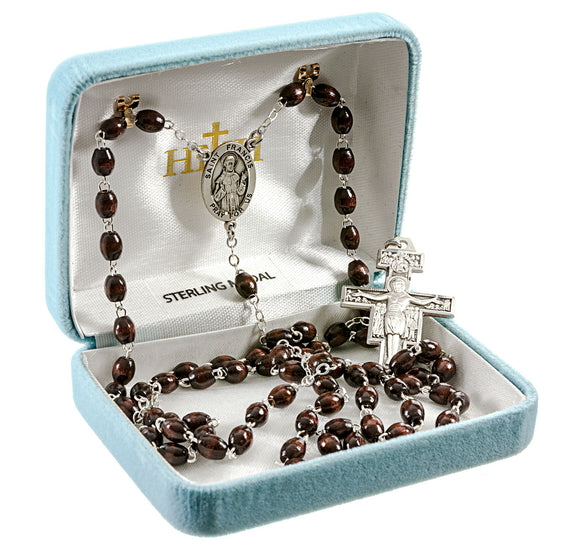 HMH Religious St Francis Patron Saint Franciscan 7 Decade Sterling Silver Rosary