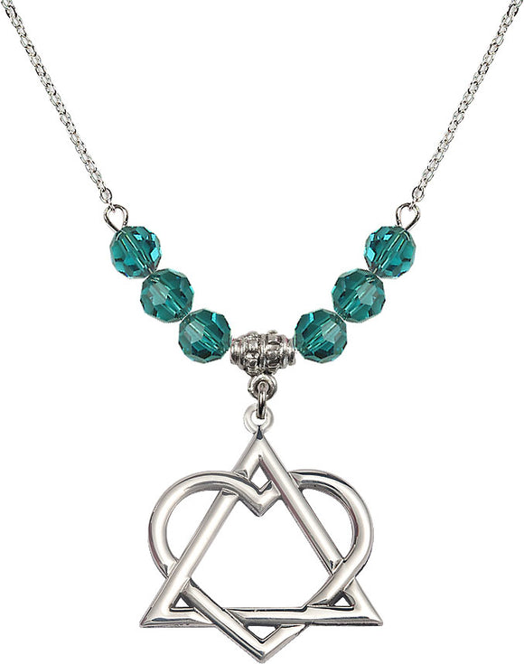 Bliss Sterling Silver Adoption Heart Swarovski Crystal Birthstone Beaded Necklace