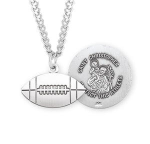 HMH Religious St Christopher Football Sports Necklace
