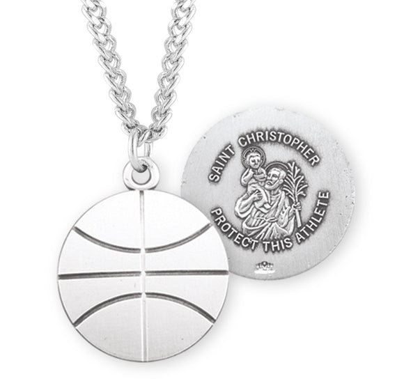 HMH Religious St Christopher Basketball Sports Necklace