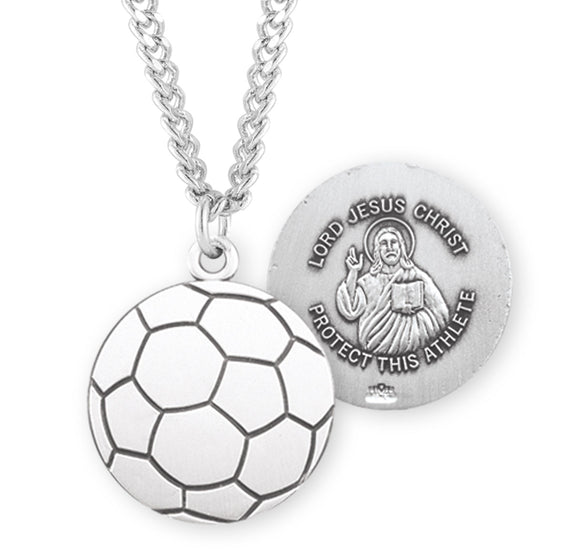 HMH Religious Lord Jesus Christ Soccer Sports Necklace