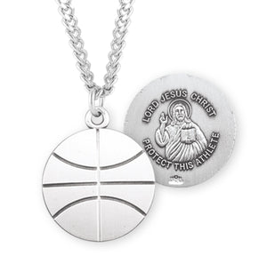 HMH Religious Lord Jesus Christ Basketball Sports Necklace