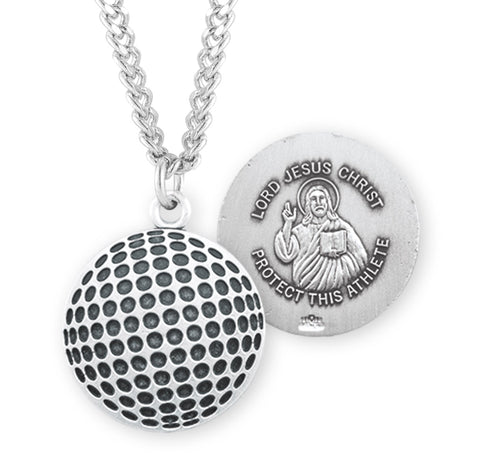 HMH Religious Lord Jesus Christ Golf Ball Sports Necklace