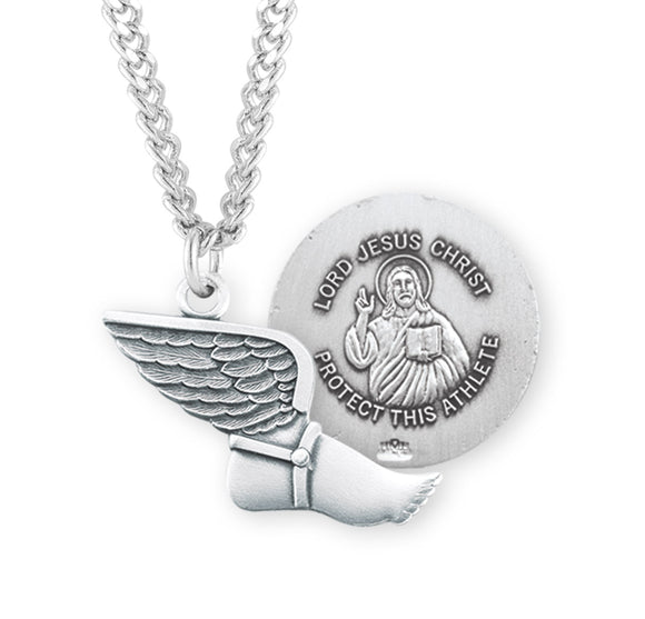 HMH Religious Lord Jesus Christ Track and Field Sports Necklace