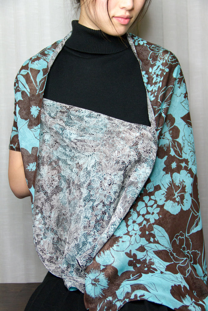 Versatile Full Silk Scarf - Dogwood by Ann Catherine