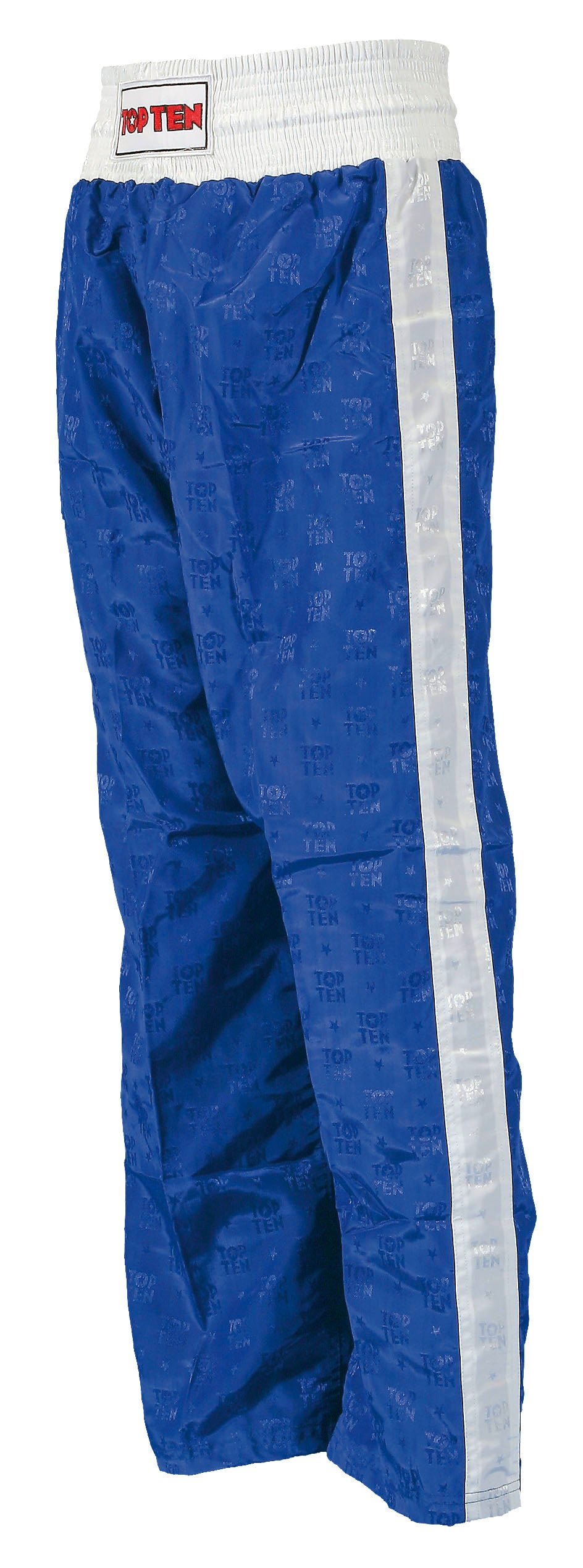 Top Ten Kickboxing Pants Blue with White Stripe