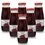 100% Pure Organic Pomegranate Juice, Glass Bottle, No Sugar Added, 6.76 Fl Oz, Pack of 6