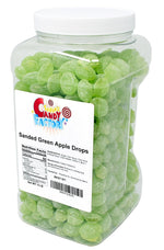 Claey's Sanded Green Apple Drops in Jar, 6 Lbs