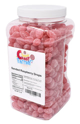 Claey's Sanded Raspberry Drops in Jar, 6 Lbs