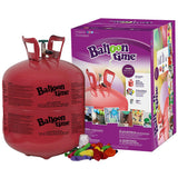 Balloon Time Helium Tank 14.9 cu.ft with 50 Balloons & 12 Silver Balloon Weights - Party Set 2