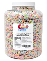 Assorted Dehydrated Marshmallow Bits in Jar, 2.5 Pounds