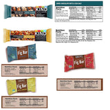Blue Ribbon Healthy Bars and Snacks Care Package - 30 Count - Variety Sampler Health Gift Box
